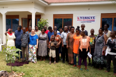 Volunteers and Disabled Children at the Oyesigye Special Child Foundation (OSCF) Head Office in Mbarara Uganda