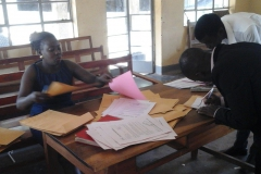 Registration exercise at the Centre