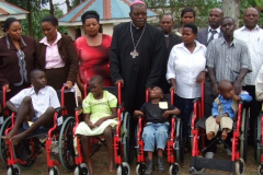 Wheel Chair Giving at the Opening Event