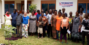 Volunteers and Disabled Children Oyesigye Special Child Foundation (OSCF) Head Office in Mbarara Uganda